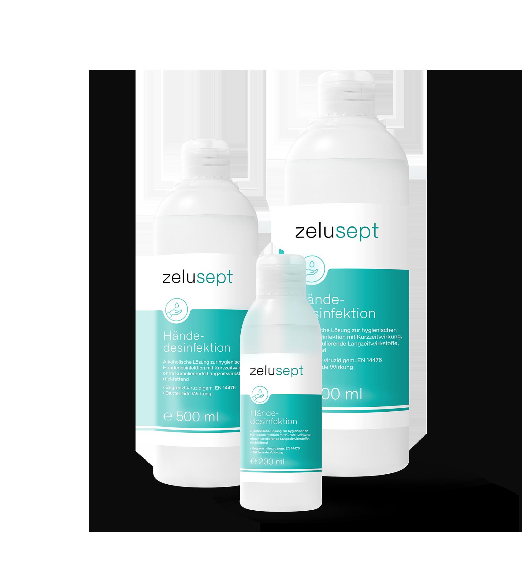 Zelucare Lösung zur hygienischen Handdesinfektion